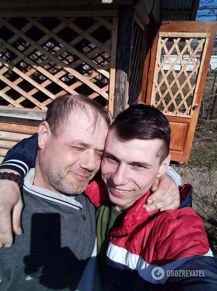 Андрій Гонар з сином