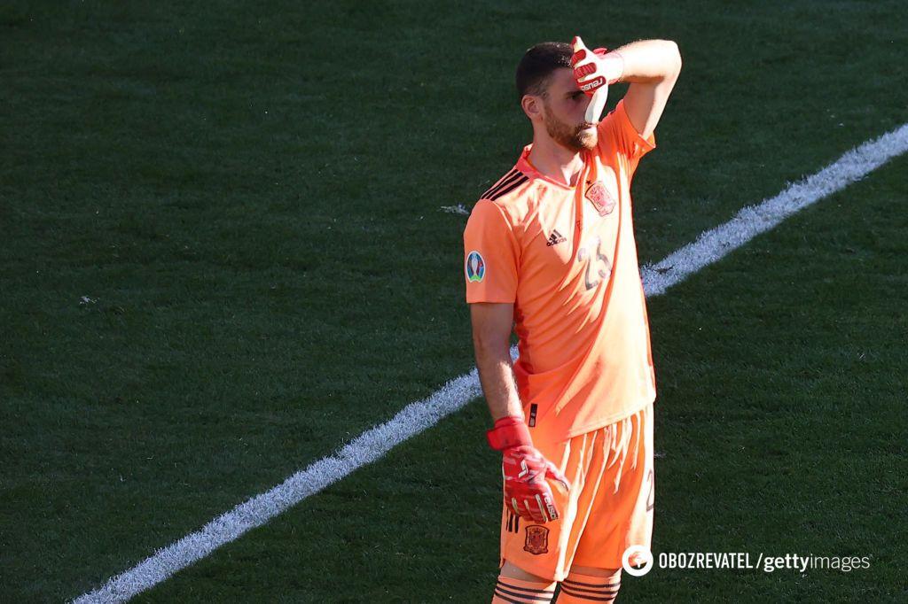 Унай Симон привез нелепый гол в ворота Испании.