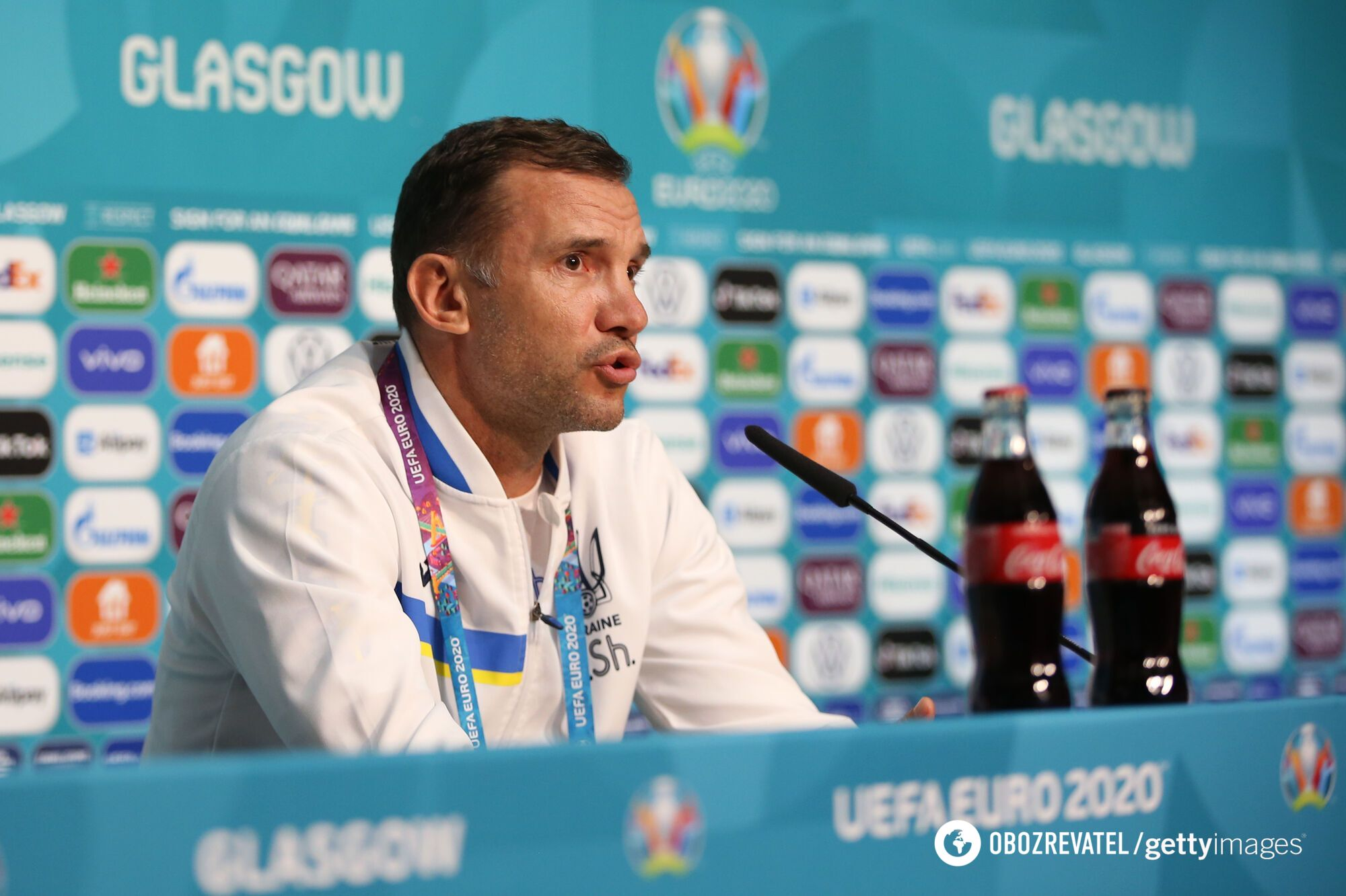 Андрій Шевченко на пресконференції.