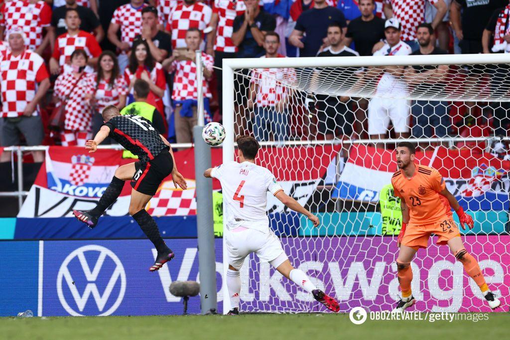 Хорваты сделали счет 3:3 и перевели матч в овертайм.