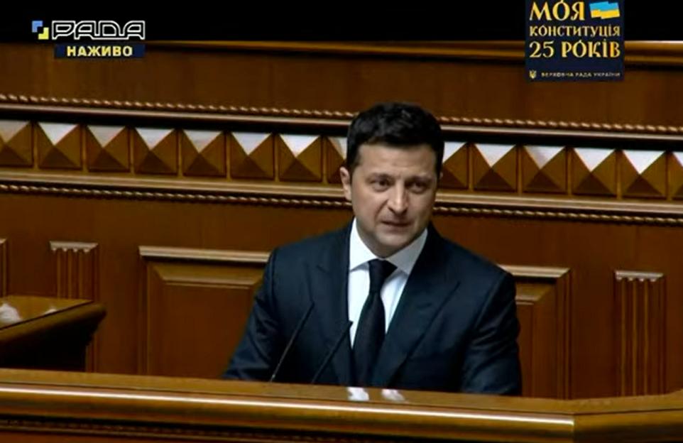 Володимир Зеленський у Раді.