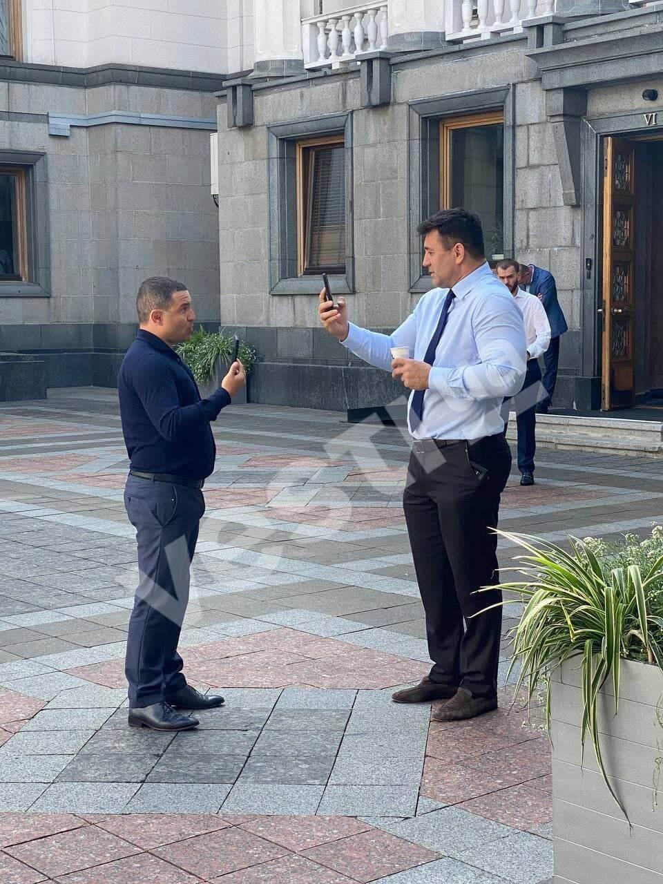 Куницький і Тищенко вийшли з будівлі ВР