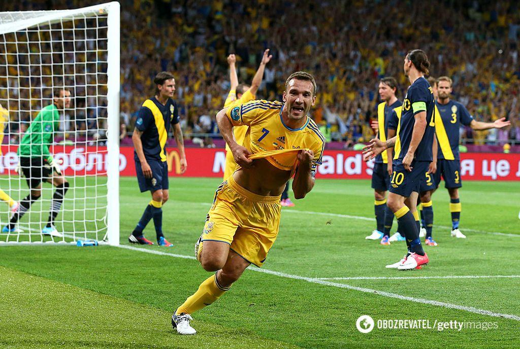 Шевченко двічі забив шведам на Євро-2012
