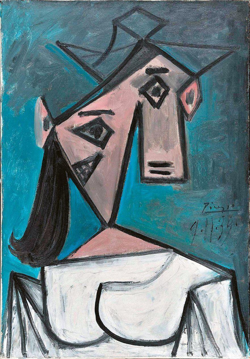 """Картина Пабло Пикассо """"Женская голова""""."""