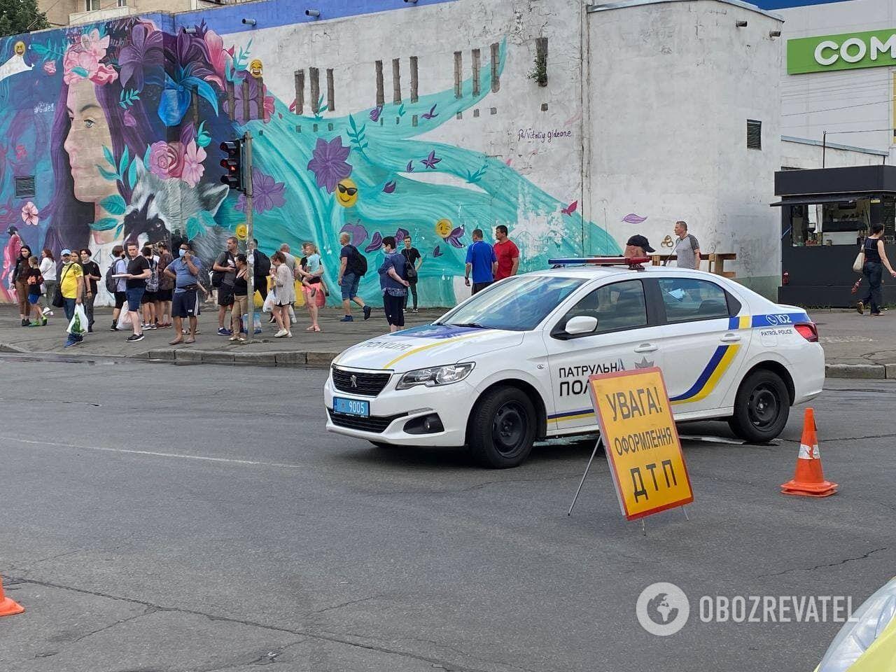 ДТП в Киеве возле ТРЦ