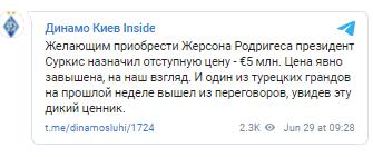 "Жерсон Родригес может уйти из ""Динамо"""