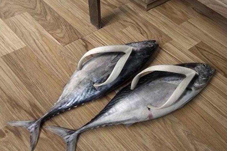 Тапочки для настоящих рыбаков.