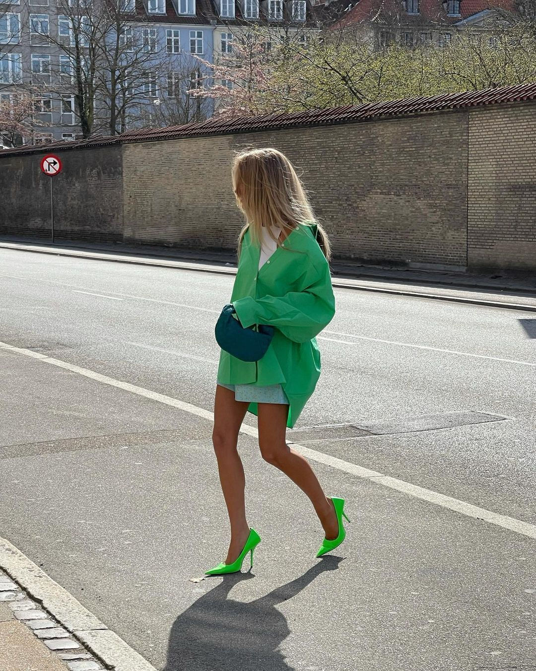 Трендова сорочка зеленого кольору