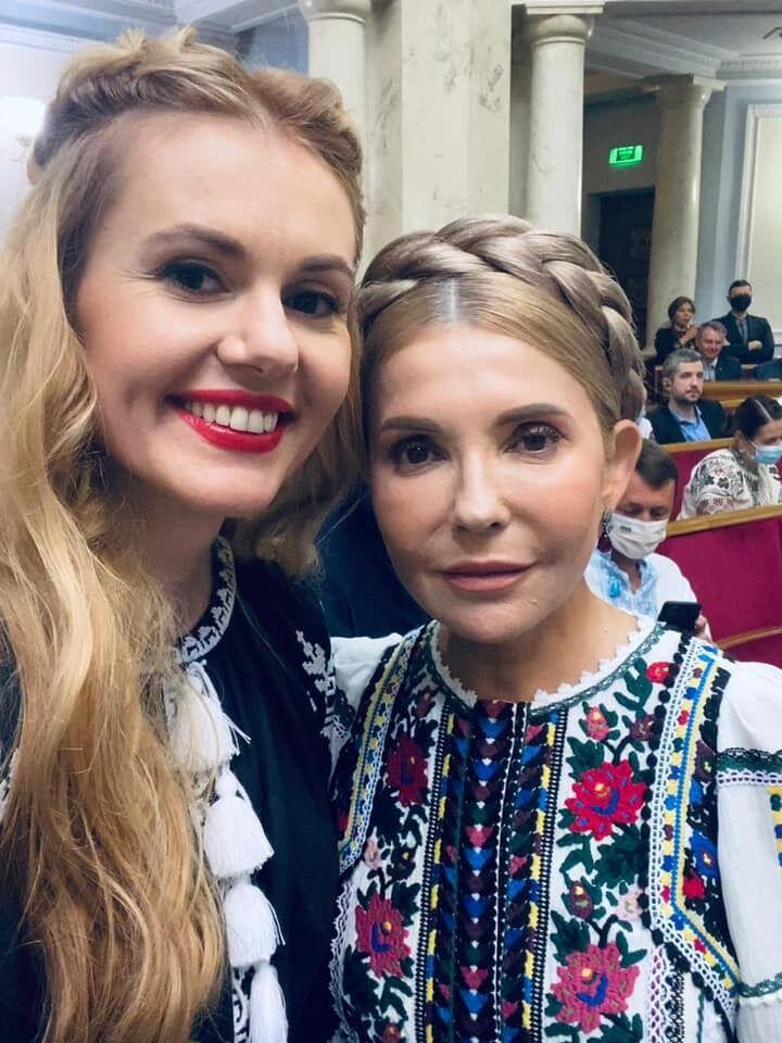 Скороход позує з Тимошенко.