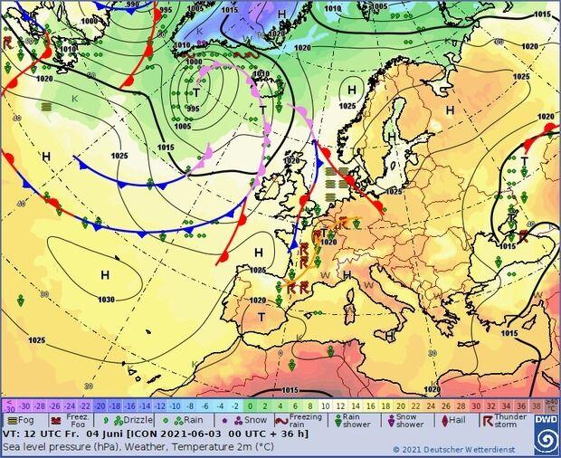 Карта погоды в Украине 4 июня
