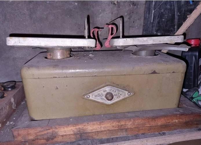 В СССР взвешивали товары с гирьками