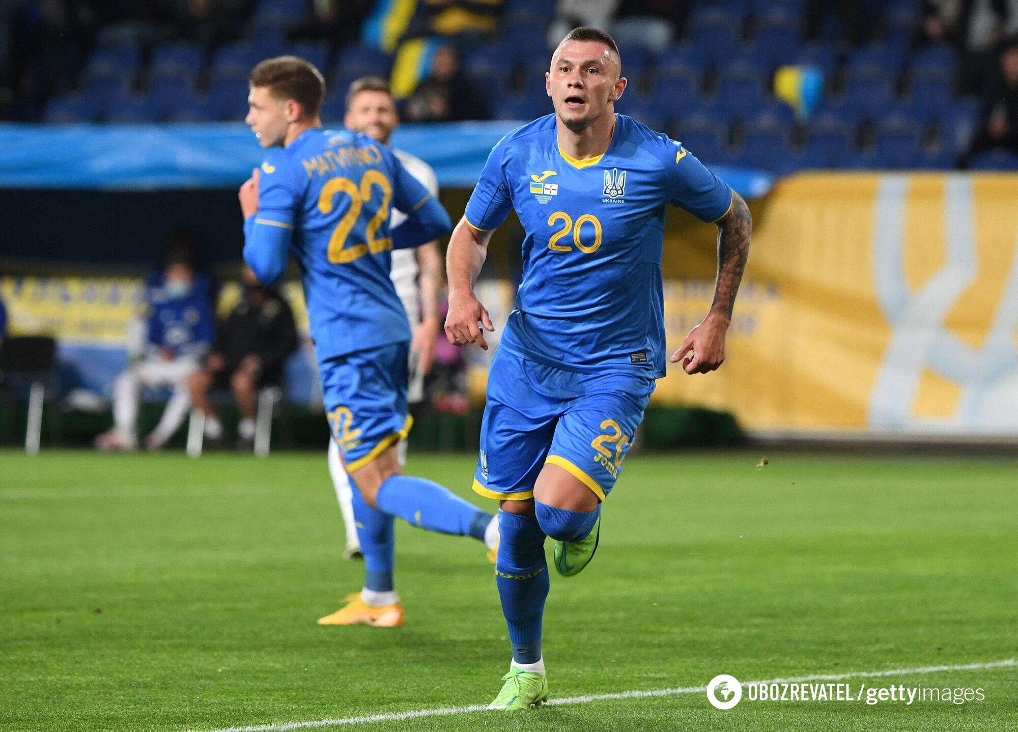 Олександр Зубков забив дебютний м'яч за збірну