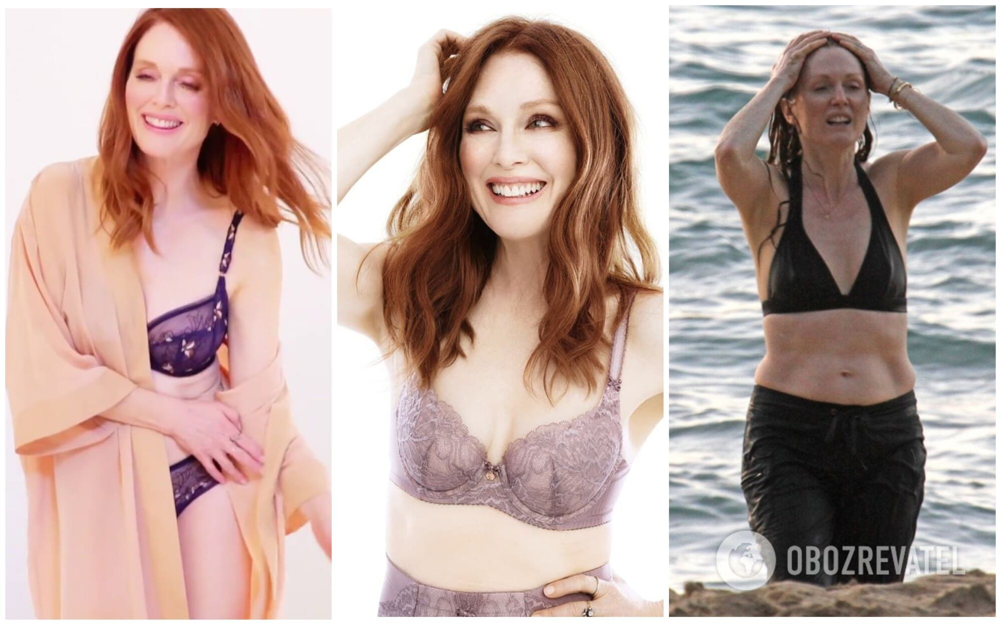 Джуліана Мур обожнює вдягати роздільний купальник і фотографуватися для брендів білизни