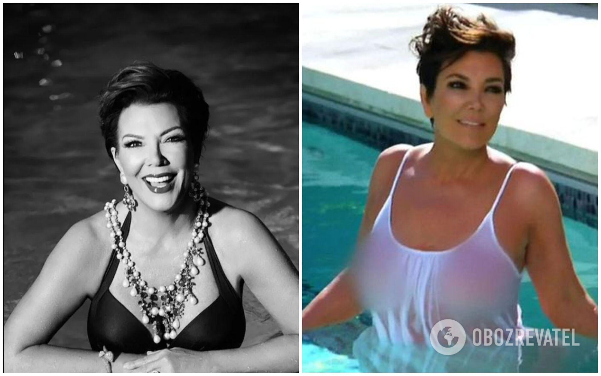 В останні роки Кріс Дженнер нерідко позує для фото в своєму розкішному басейні в купальниках