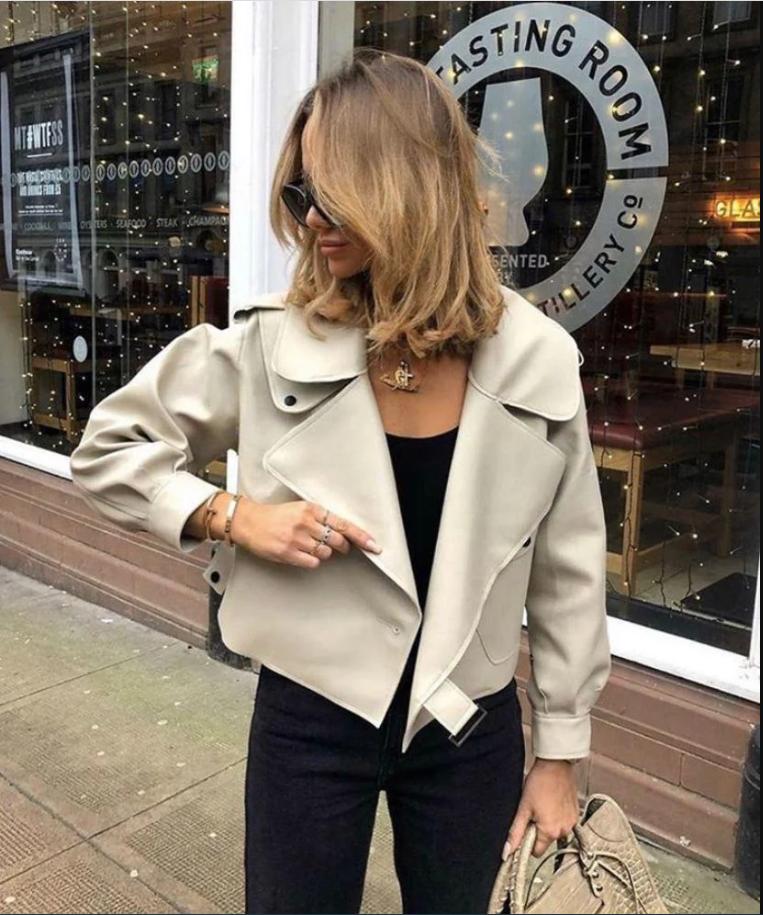 Модна шкіряна куртка
