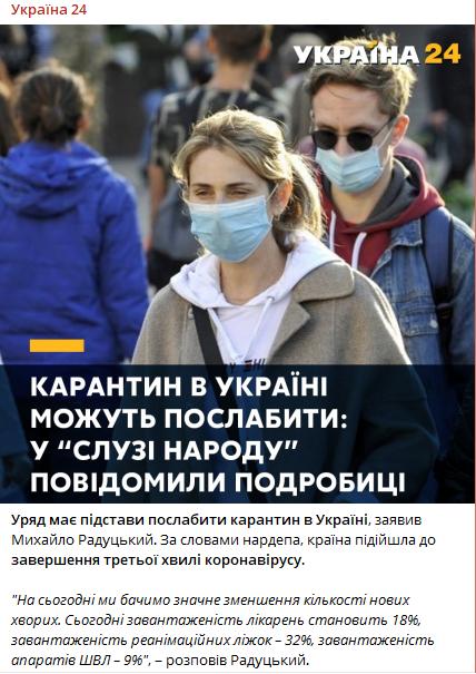 """В """"Слуге народа"""" заговорили о смягчении карантина и завершении третьей волны коронавируса в Украине"""