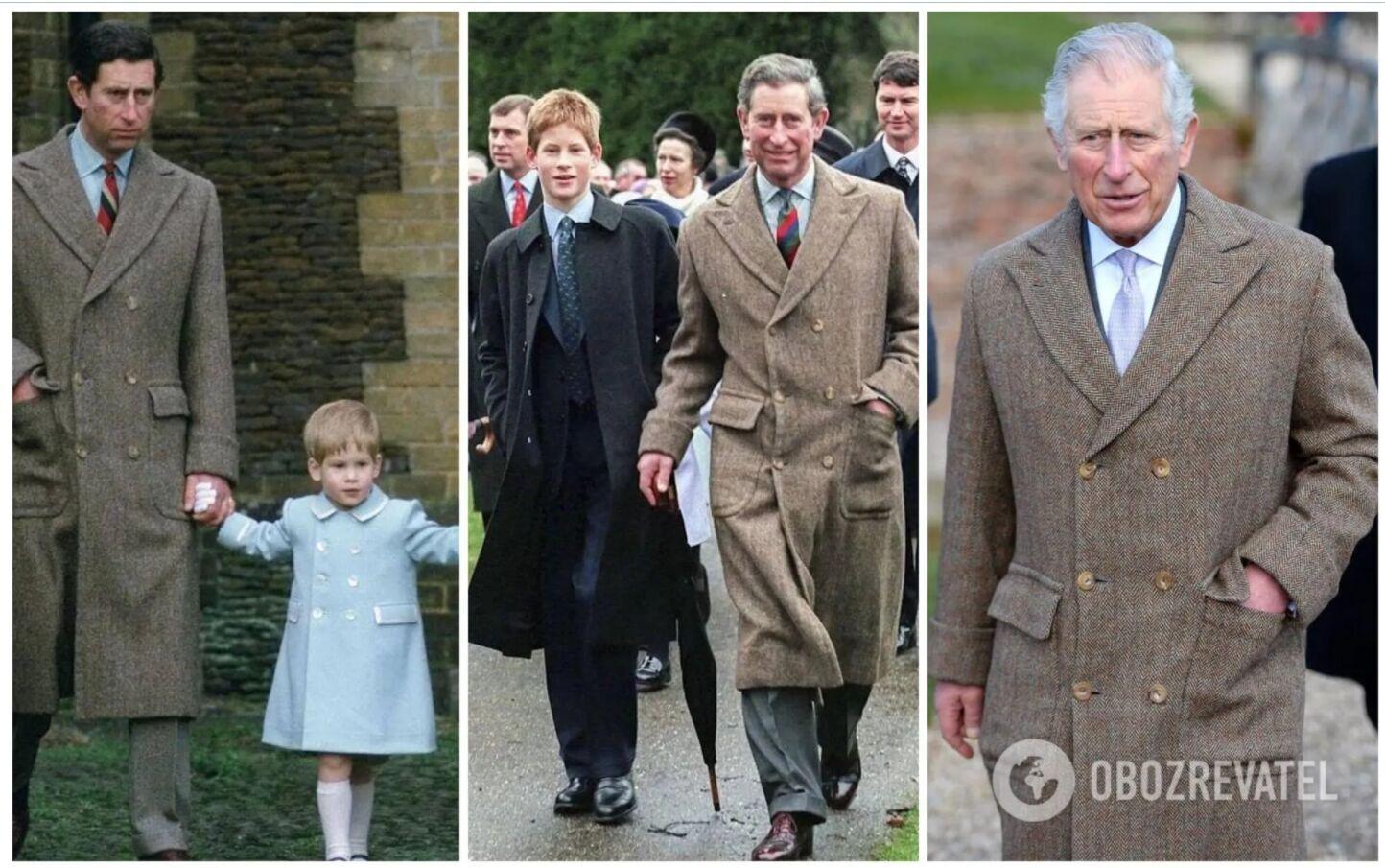 Сын королевы Елизаветы принц Чарльз носит одно и то же твидовое пальто от Anderson & Sheppard