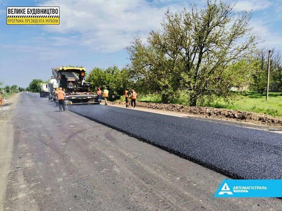 На участке от села Ангелиновка в направлении села Розаливка протяженностью 8,7 км работы начались в марте