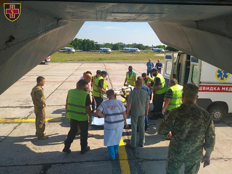 Медицинская эвакуация украинских воинов