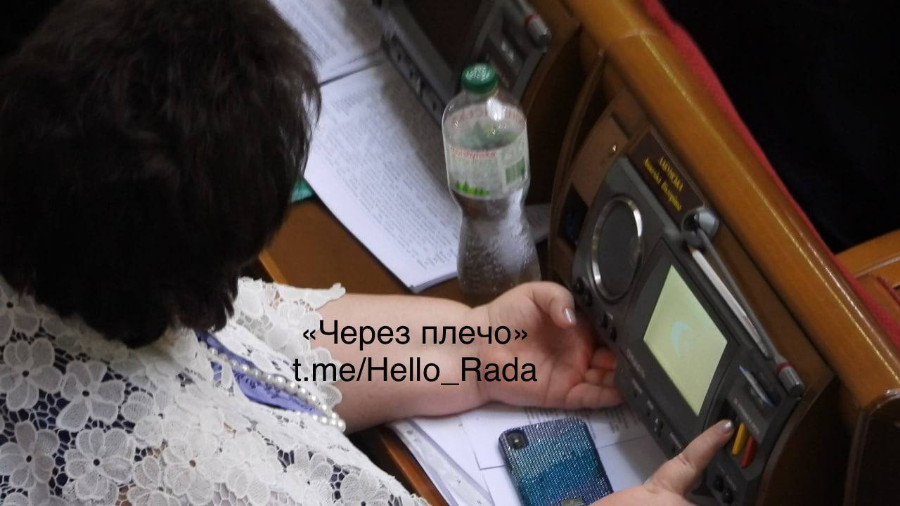 Анжеліка Лабунська в залі ВР