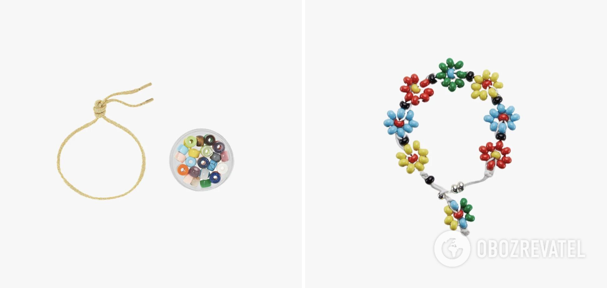 Аксессуары в стиле детских плетеных браслетов.