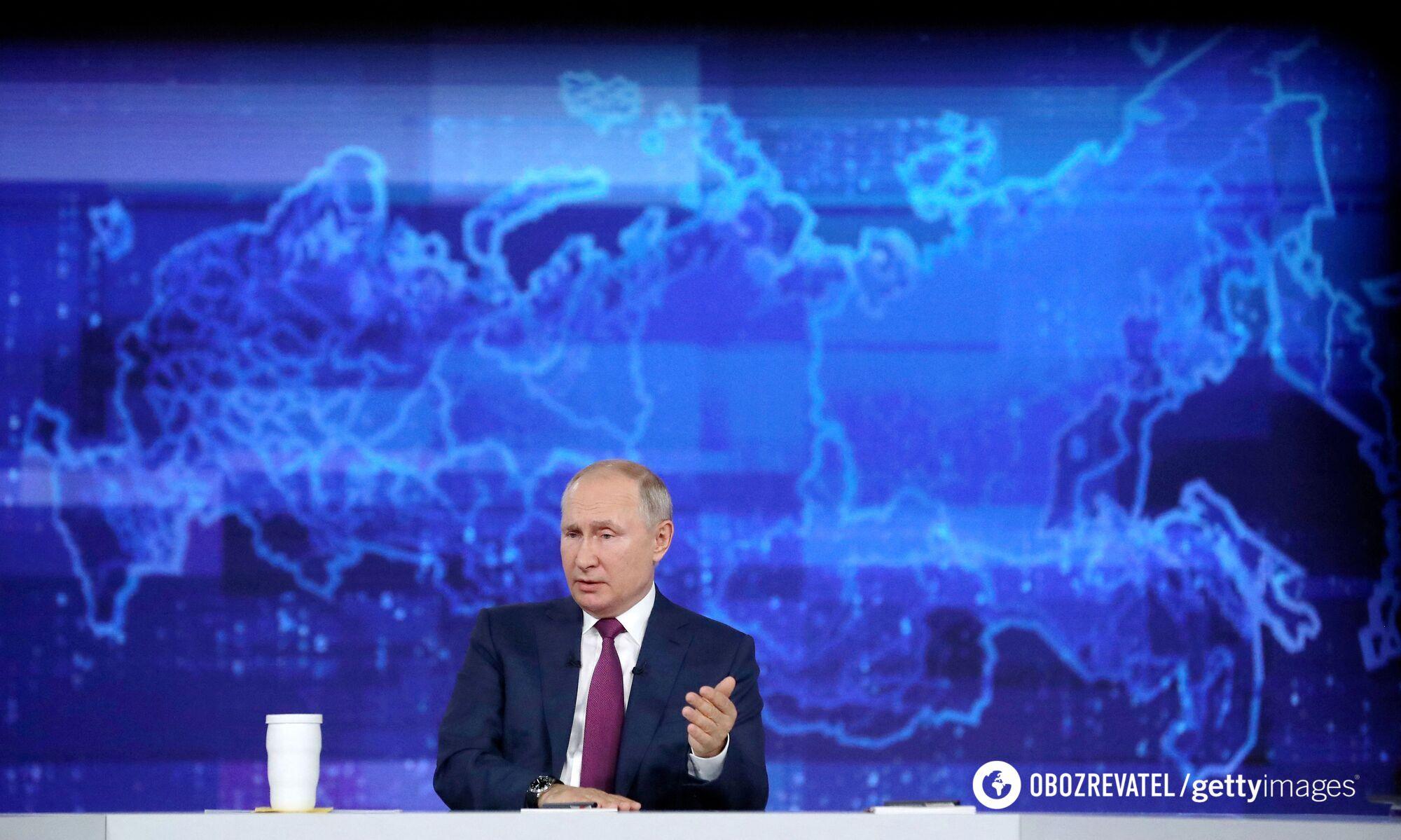 """Путин во время """"прямой линии"""""""