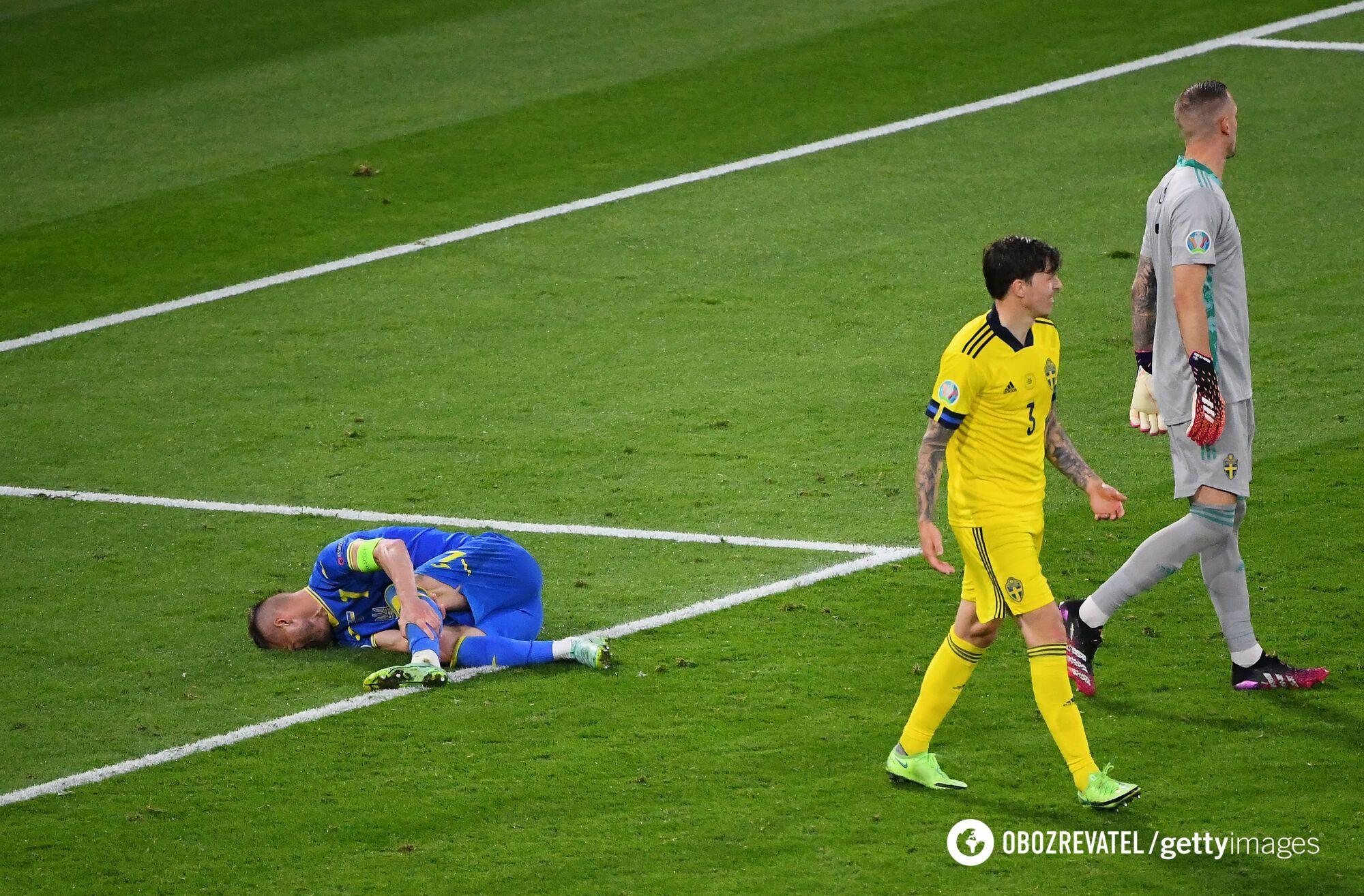 Андрій Ярмоленко отримав травму.