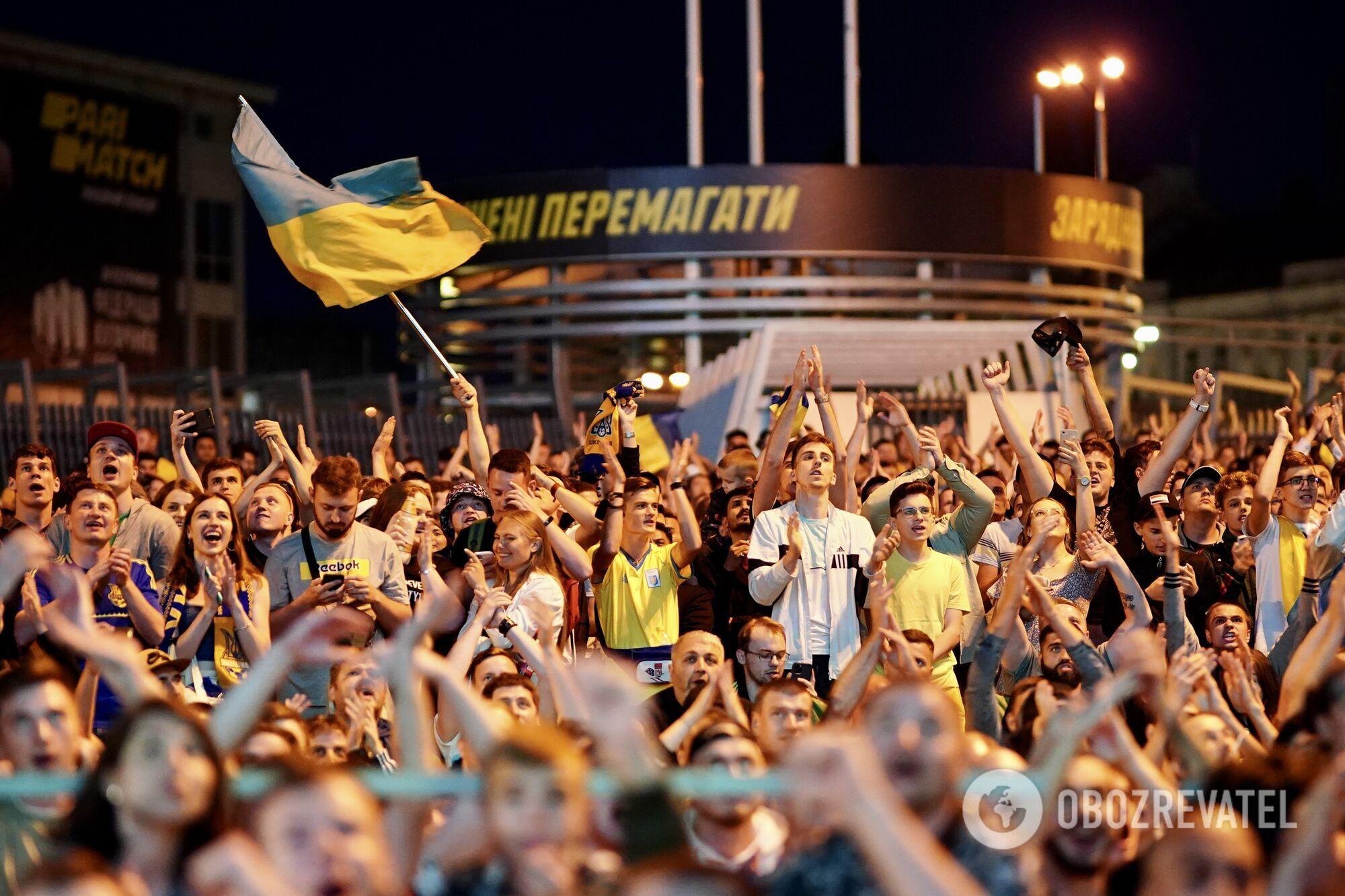 У фан-зоні українців підтримували 7 тисяч уболівальників.