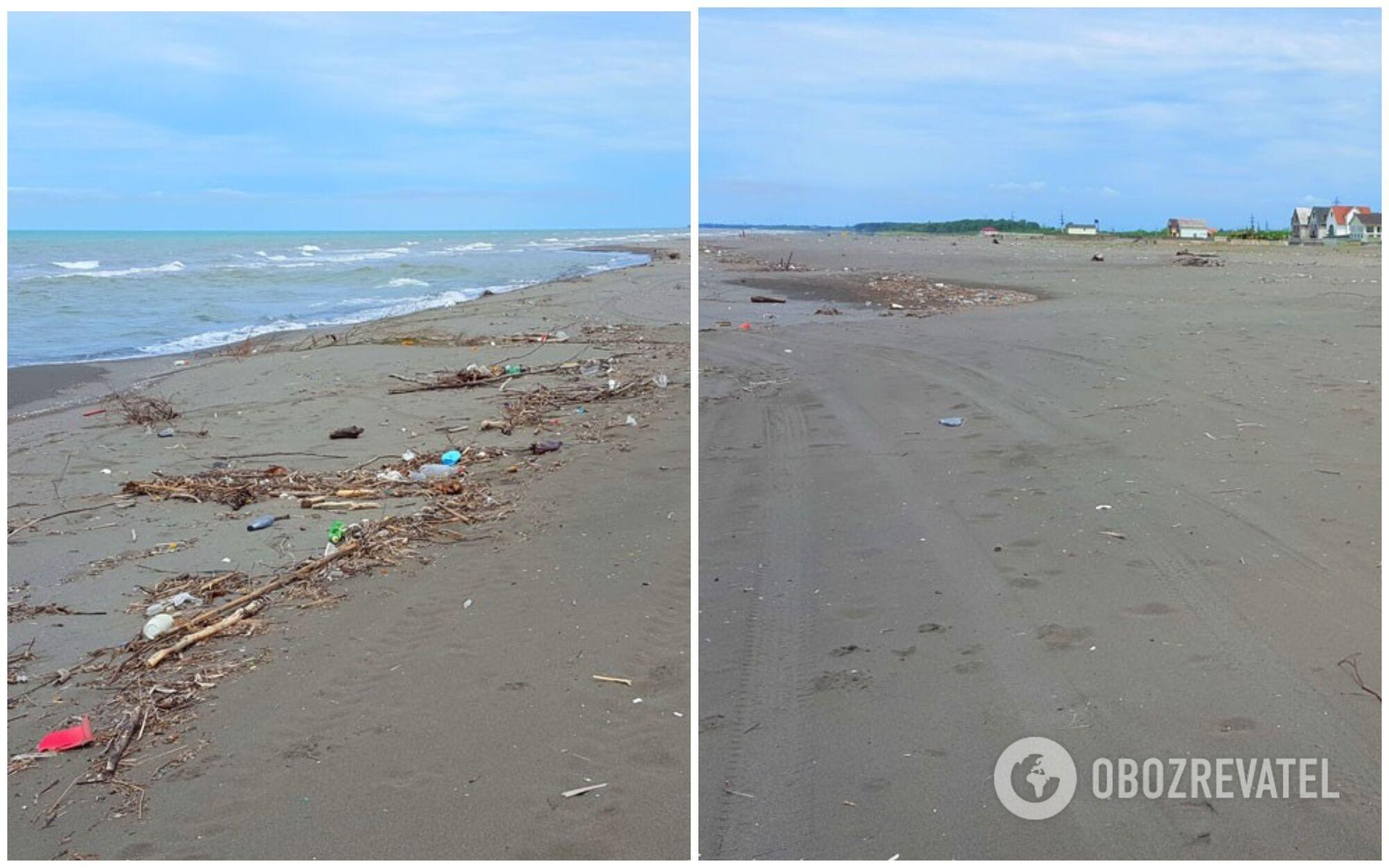 Малтаква – це довгий широкий пляж з дрібним сірим піском