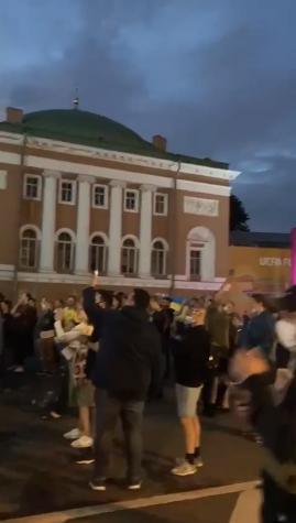 У Санкт-Петербурзі можна було побачити прапор України