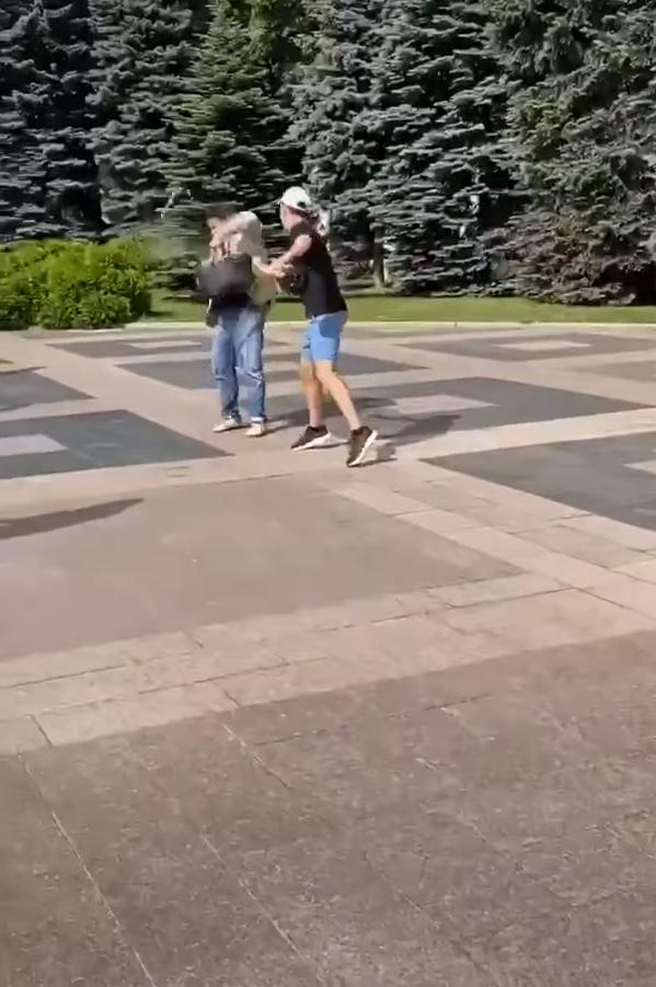 Момент нападения на Родзинского.