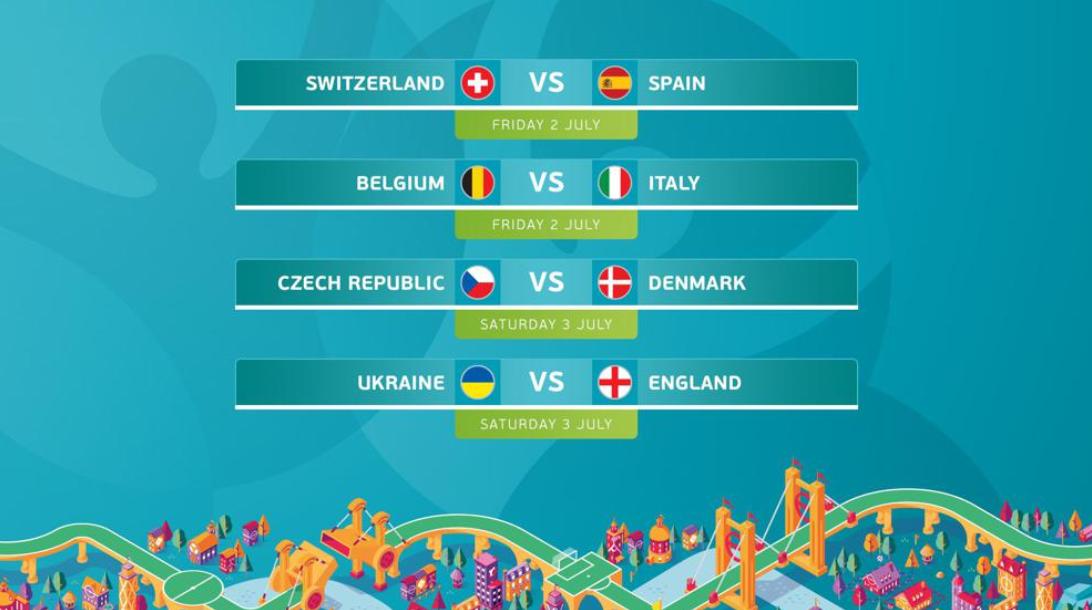 Сітка 1/4 фіналу Євро-2020