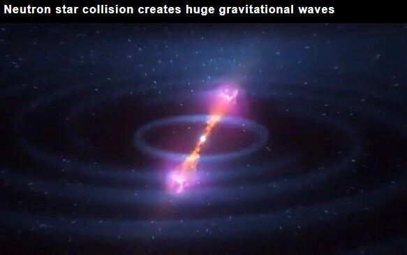 Вчені показали гравітаційні хвилі від зіткнення чорної діри й нейтронної зірки