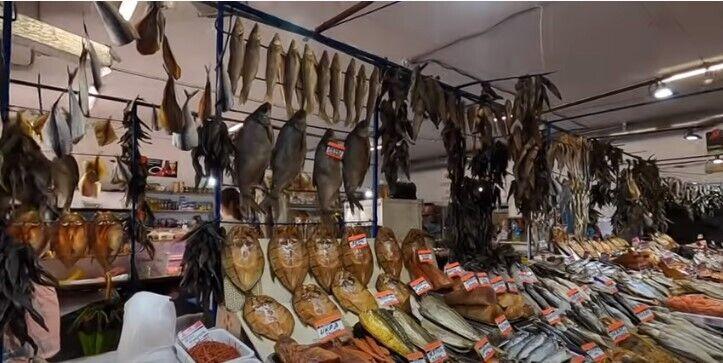 Рыба в Затоке на рынке