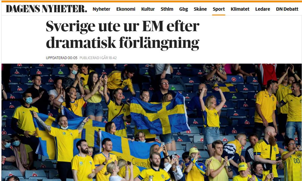 Шведские журналисты отметили игру Форсберга