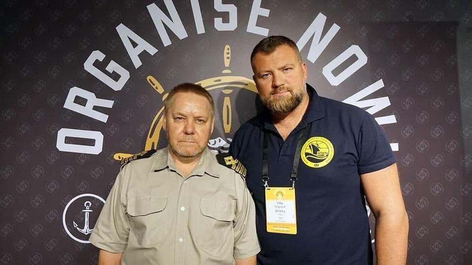 Капитан Гаврилов и посол доброй воли IMO, первый заместитель главы Профсоюза работников морского транспорта Украины Олег Григорюк
