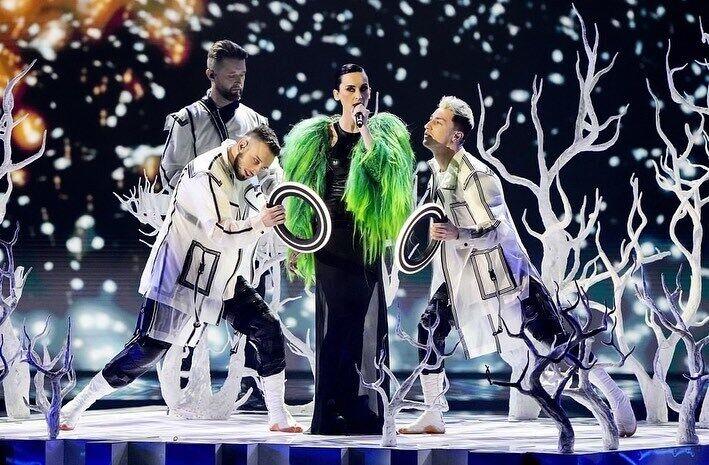 Екатерина Павленко в легендарной зеленой шубе