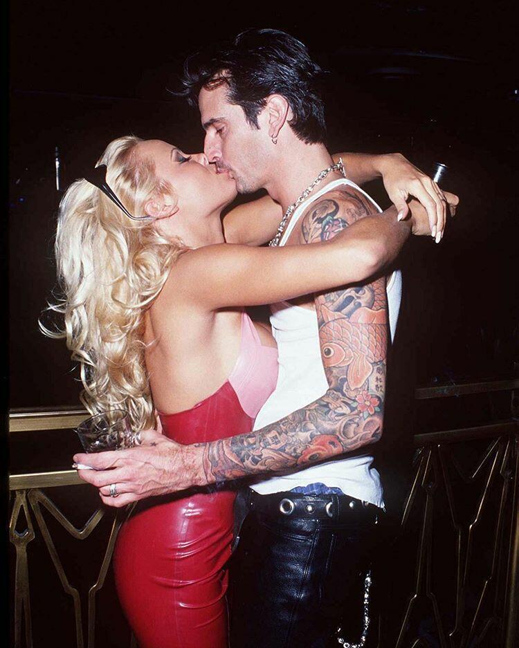 Памела и Томми Ли на открытии Hard Rock Hotel & Casino в Лас-Вегасе