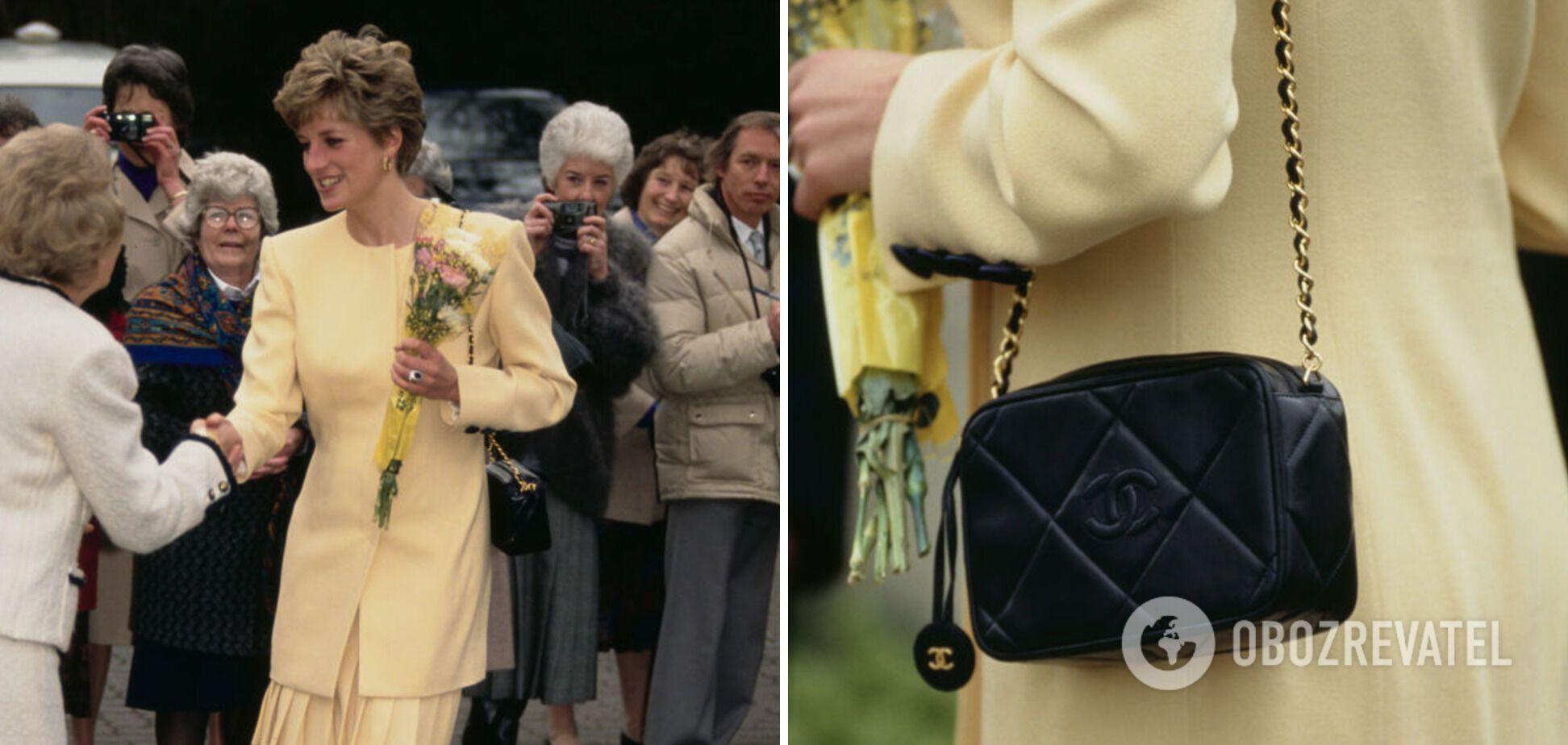Принцеса Діана з сумкою від Chanel