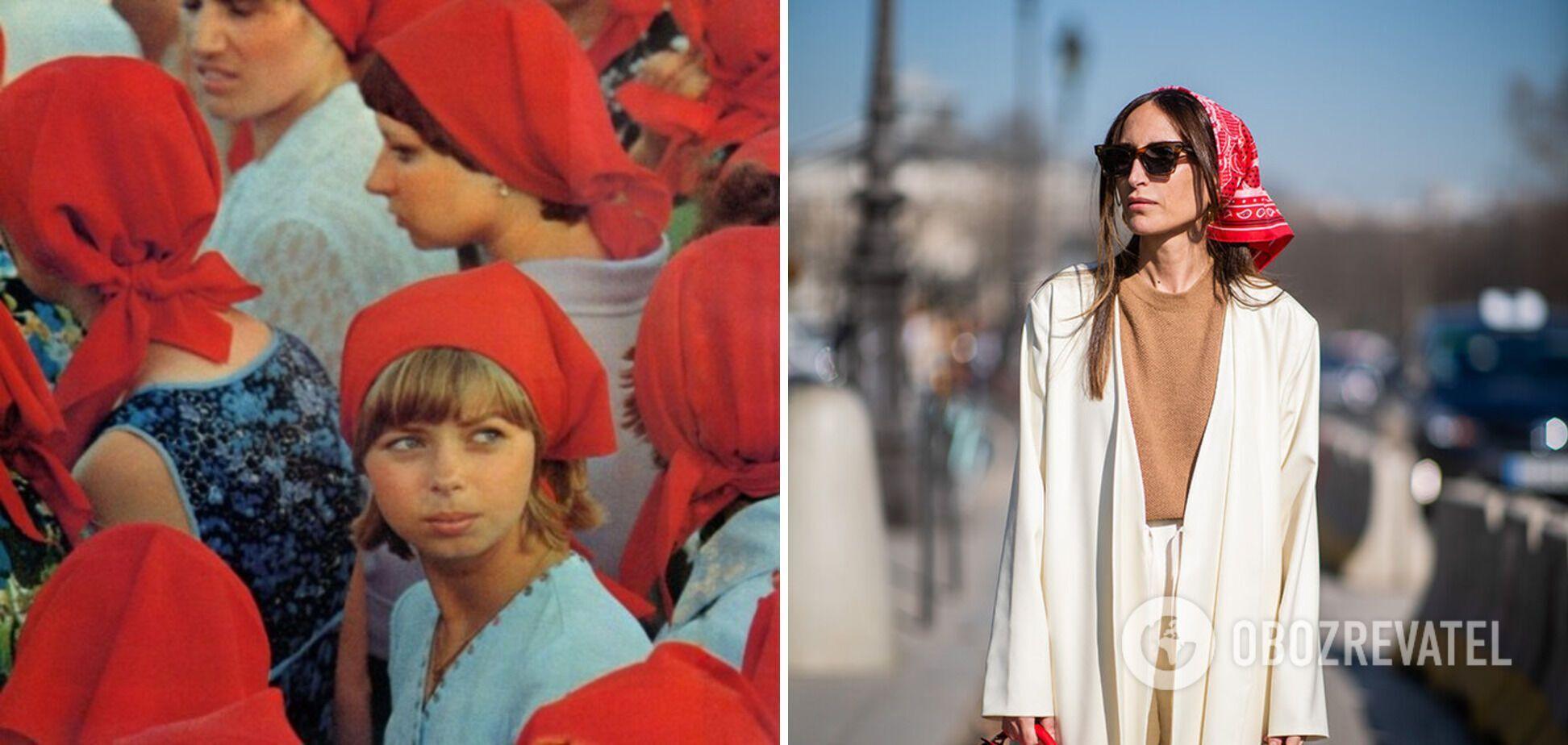 Платки носили девушки в СССР.