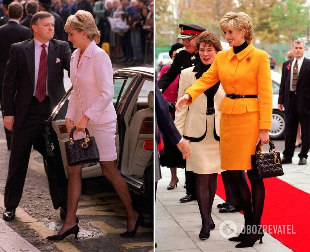 Принцеса Діана з сумкою Lady Dior