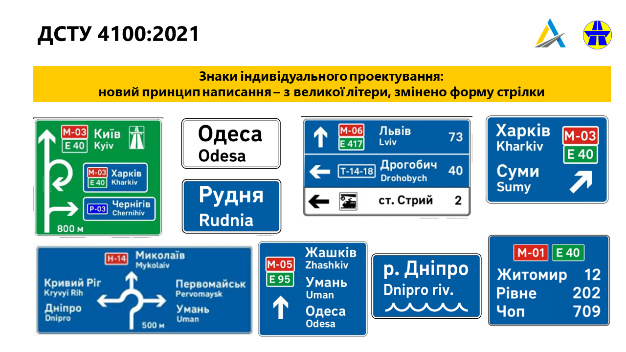 Нові дорожні знаки в Україні