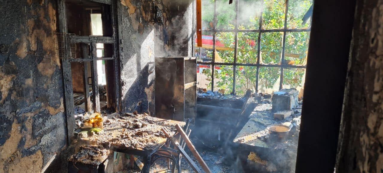 В результате пожара пострадали 25-летняя женщина и ее младенец