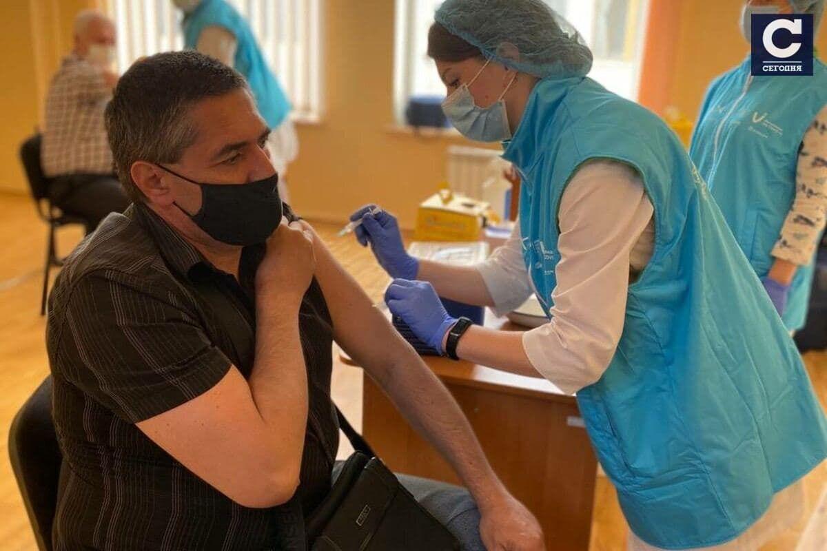 Центр вакцинації в Полтаві.