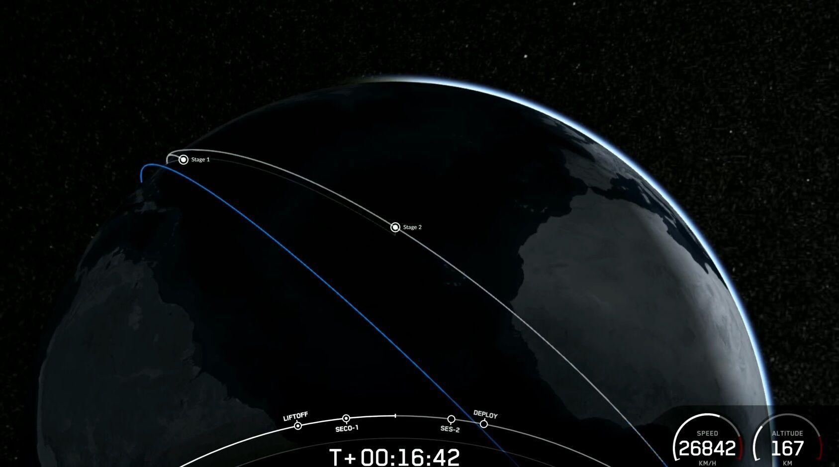 Первая ступень вернулась на Землю.