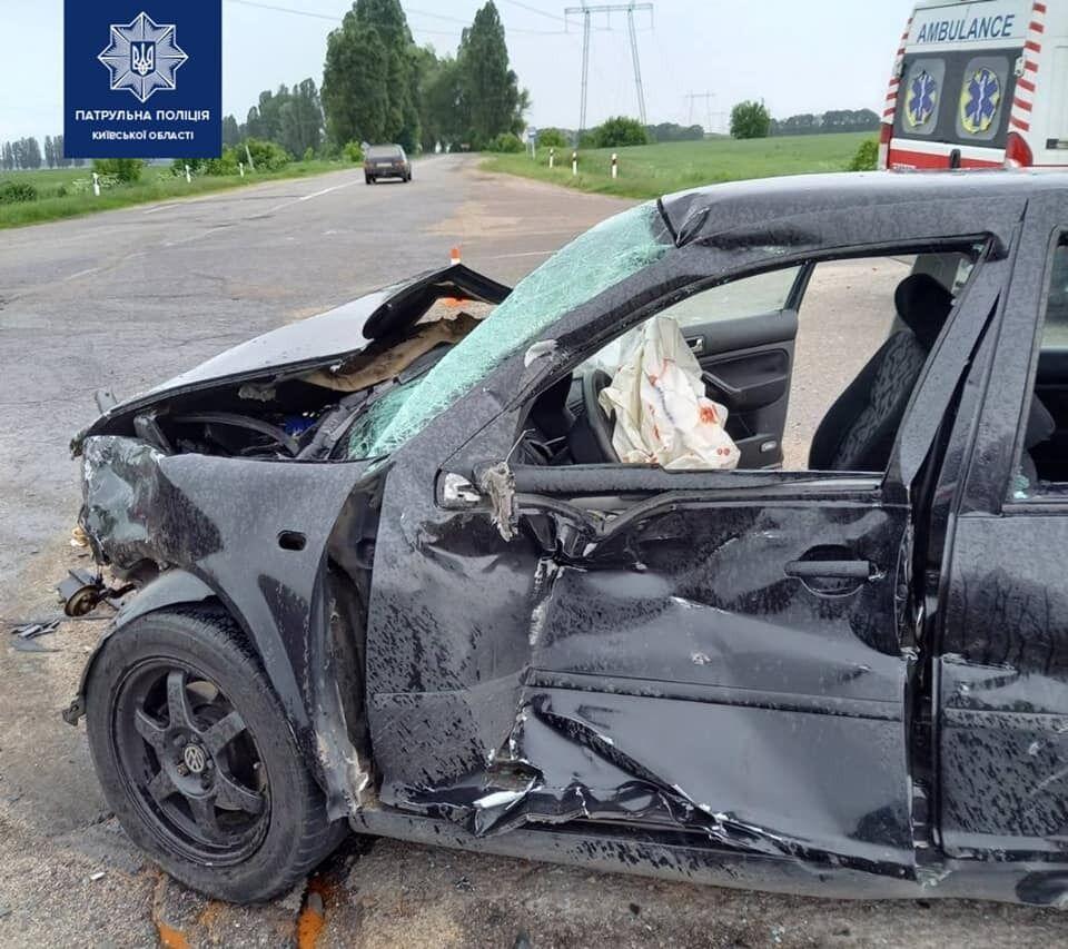 На Киевщине столкнулись два авто
