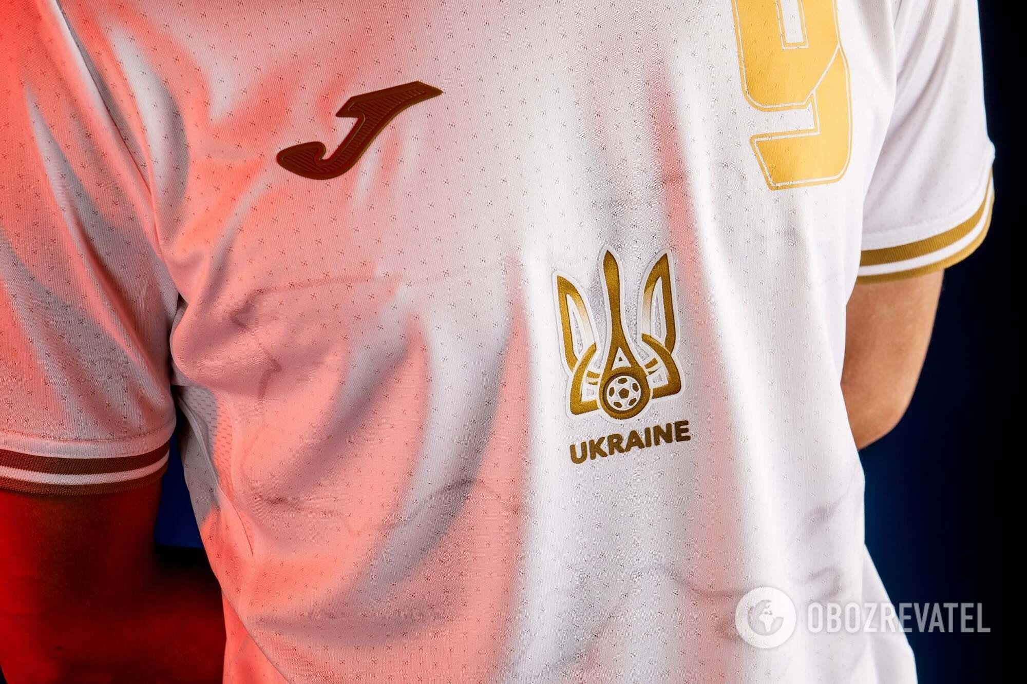 Карта України на футболках збірної
