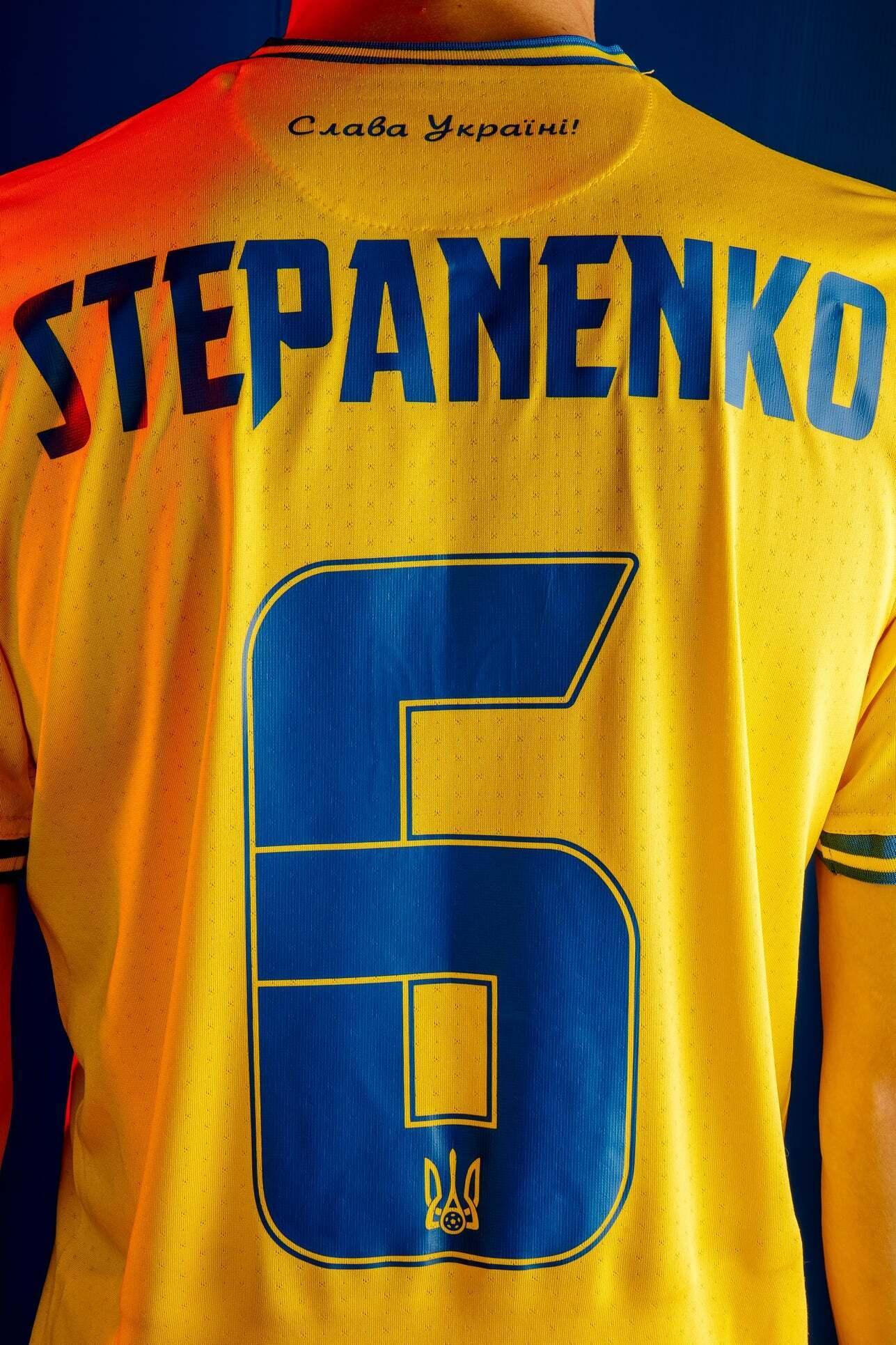 Тарас Степаненко в форме сборной Украины.