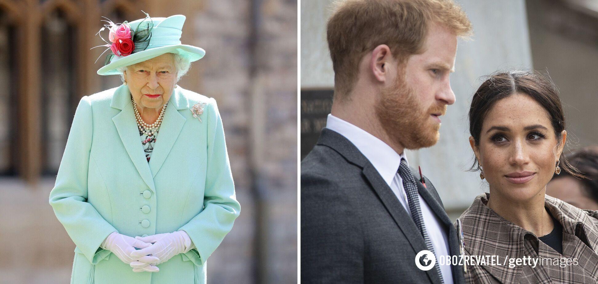 Єлизавета II, принц Гаррі та Меган Маркл