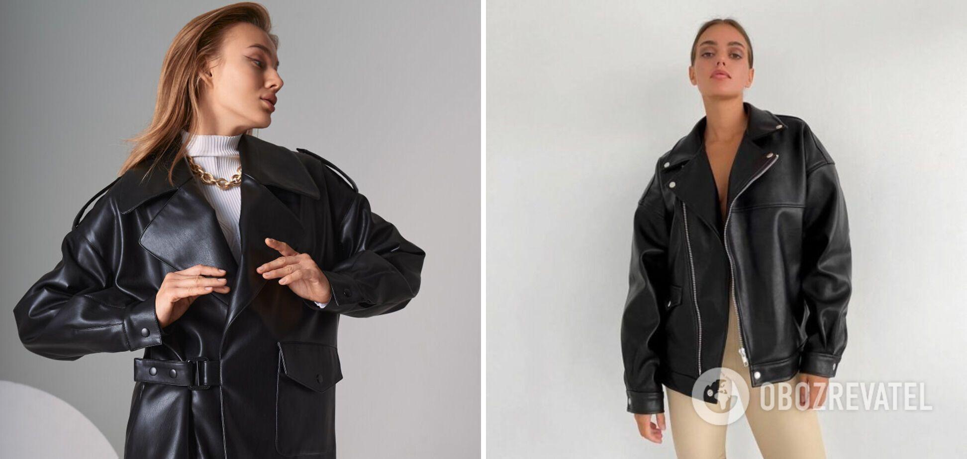 Куртка-косуха чорного кольору - незамінний атрибут демісезонного гардероба